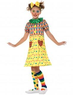 Clownskostüm für Mädchen Karneval bunt