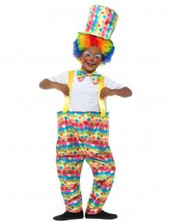 Clownskostüm für Jungs Karneval bunt