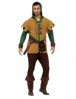 Bandit der Wälder-Kostüm für Herren braun-grün