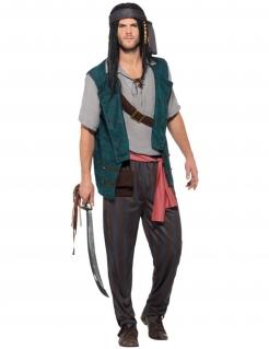Piraten-Freibeuter-Kostüm für Herren bunt