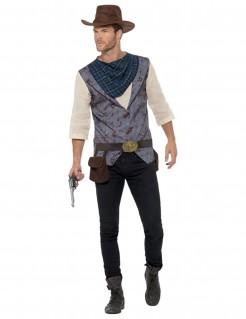 Cowboy-Kostüm für Herren blau-grau-weiss