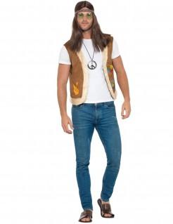 Hippieweste Hippie-Kostümzubehör braun