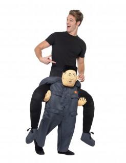 Carry-Me-Kostüm nordkoreanischer Präsident Faschingskostüm grau-schwarz