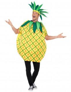 Ananaskostüm für Erwachsene gelb-grün