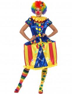 Clownskostüm mit LED für Damen bunt