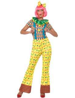 Buntes Clownkostüm für Damen bunt