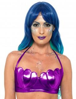Glänzender Muschel-BH Meerjungfrauen Zubehör violett