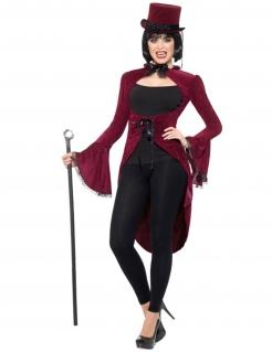 Vampir-Frack für Damen Halloweenkostüm rot-schwarz
