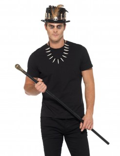 Voodoo-Set Steampunk Halloween-Accessoires schwarz-braun