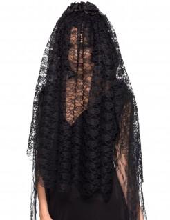 Gothic-Brautschleier schwarze Witwe Halloween-Accessoire schwarz