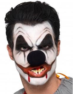Schminkset Killerclown Halloween Make-up 6-teilig schwarz-weiss