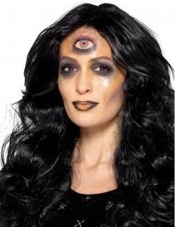 Schminkset Hellseherin Halloween-Make-up schwarz-bunt