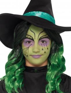 Hexen-Schminkset für Kinder Halloween-Makeup 8-teilig schwarz-grün