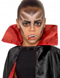 Schminkset Vampir für Kinder Halloween Make-up 6-teilig schwarz-weiss