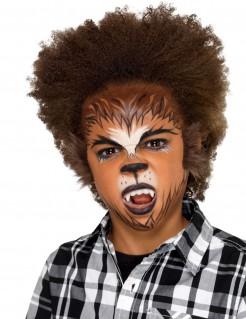 Werwolf-Kinderschminkset 6-teilig braun-schwarz