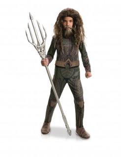 Aquaman™-Kinderkostüm Lizenzkostüm braun-grün