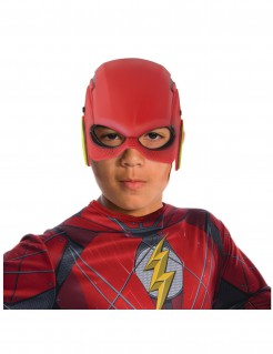 Flash™-Halbmaske für Kinder DC-Lizenzmaske rot