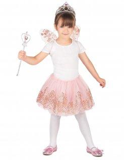 Fee Kostüm-Set für Mädchen Märchen-Accessoire rosa
