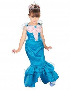Meerjungfrauen-Kostüm für Mädchen blau-rosa