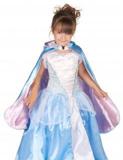 Prinzessinnen-Umhang für Mädchen zweiseitig Accessoire blau-rosa