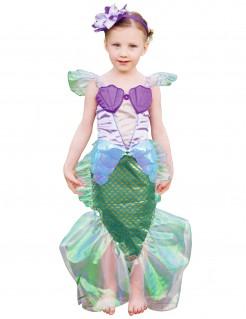 Meerjungfrauen-Kinderkostüm lila-grün