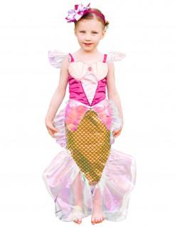 Süsses Meerjungfrauen-Kinderkostüm rosa