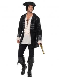 Piraten-Mantel für Herren schwarz