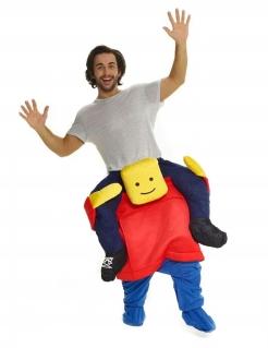 Morphsuit™ Kostüm Huckepack gelb-rot-blau