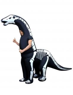 Skelett-Dinosaurierkostüm Morphsuits™ zum Aufblasen Halloweenkostüm schwarz-weiss