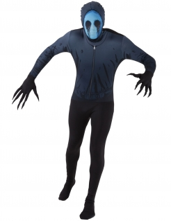 Eyeless Jack™-Kostüm Morphsuits Halloween-Kostüm schwarz-blau