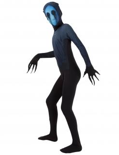 Eyeless Jack™-Kinderkostüm Morphsuits™ Halloweenkostüm schwarz-blau