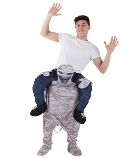 Carry-Me-Mumienkostüm Morphsuits™ Halloweenkostüm beige-weiss-blau