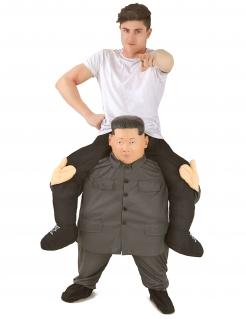 Carry-Me-Kostüm Kim Morphsuits™ Faschingskostüm grau-schwarz