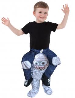 Carry-Me-Mumienkostüm für Kinder Morphsuits™ Halloweenkostüm blau-weiss