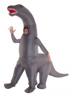 Diplodocus-Kostüm Morphsuits™ Halloween grau-rot