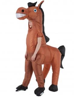 Pferdekostüm für Kinder von Morphsuits™ braun-schwarz