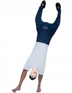 Handstand-Kostüm Morphsuits™ Faschingskostüm blau-weiss