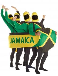 Jamaikanischer Bobschlitten Gruppenkostüm Morphsuits™ grün-gelb-schwarz
