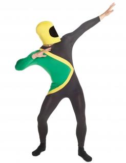 Jamaika-Kostüm Morphsuit™ Länderkostüm schwarz-grün-gelb