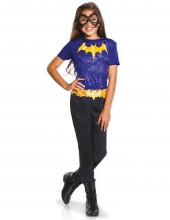 Batgirl™-Kinderkostüm Lizenzkostüm lila-schwarz-gelb