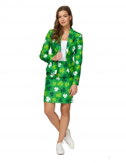 Kleeblatt-Anzug für Damen grün-weiss