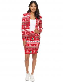Weihnachts-Damenanzug von Suitmeister™ rot-weiss-grün