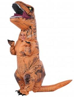 Aufblasbarer Dinosaurier T-Rex Jurassic World™-Lizenzkostüm für Kinder orange