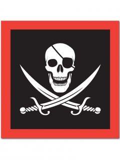 16 Papierservietten mit Piraten-Party 33 x 33 cm
