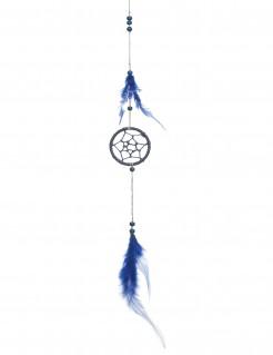 Traumfänger mit Federn blau 35cm