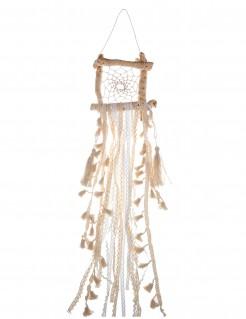 Traumfänger aus Holz viereckig Dekoration braun-beige