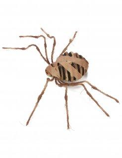 Mumifizierte Spinne Halloween-Dekofigur braun 75cm