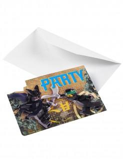 Lego Ninjago™-Einladungskartenset 8 Stück bunt