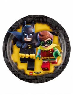 Lego™-Teller Batman™ und Robin™ 8 Stück schwarz-gelb 18cm