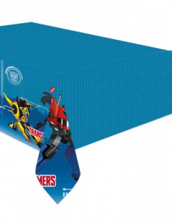 Kunststoff-Tischdecke Transformers™ blau bunt 120x180cm